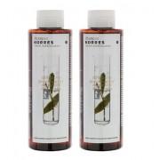 Korres Σαμπουάν για πιτυρίδα-ξηροδερμία δάφνη-echinacea 1+1 ΔΩΡΟ