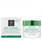 Apivita Bee radiant Κρέμα αντιγήρανσης-λάμψης ελαφριά υφή 50ml