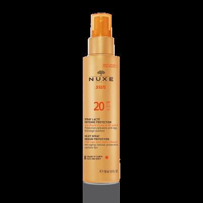 Nuxe SUN Milky Spray Face-Body Medium Protection SPF20 150ml