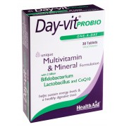Health Aid Day-vit Probio Βιταμίνες, μέταλλα, προβιοτικά & συνένζυμο Q10 30tbs