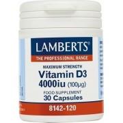 Lamberts Vitamin D3 4000IU 100μg 30caps