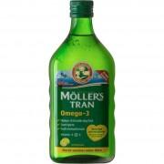 Moller's Μουρουνέλαιο υγρό για ενήλικες και παιδιά γεύση λεμόνι 250ml