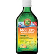 Mollers Μουρουνέλαιο υγρό για ενήλικες και παιδιά γεύση tutti frutti 250ml