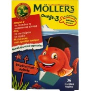 Moller's Omega 3 Kids Ζελεδάκια γεύση φράουλα 36τμχ