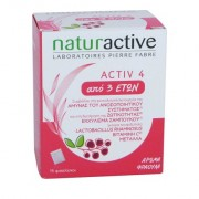 Naturactive Activ 4 Kids Συμπλήρωμα Διατροφής για την Ενίσχυση του Ανοσοποιητικού Συστήματος 14sachets
