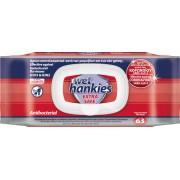 ΜΕΓΑ Wet Hankies Extra Safe Αντιβακτηριδιακά Μαντηλάκια 63τμχ