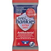 ΜΕΓΑ Wet Hankies Extra Safe Αντιβακτηριδιακά Μαντηλάκια 12τμχ