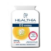 Healthia Vitamin D3 5000IU 225mg 100tbs