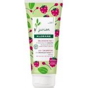 Klorane Junior 2 In 1 Shower Gel Body & Hair Raspberry 200ml