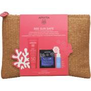 Apivita Bee Sun Safe Hydra Sensitive Face Cream SPF50 50ml & Serum 10ml & Face Mask 2x8ml