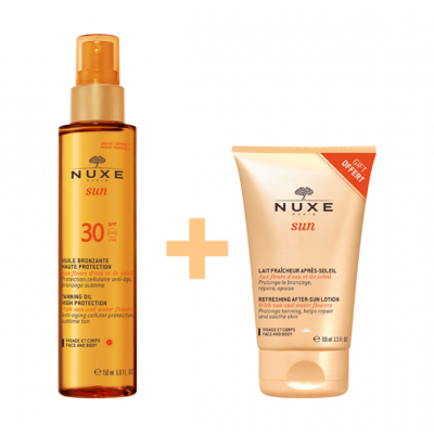Nuxe SUN Tanning Oil Face-Body High Protection SPF30 150ml & ΔΩΡΟ Aftersun 100ml