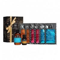 Apivita Hair Masks Gift Set με ΔΩΡΟ Σαμπουάν ενυδάτωσης και λάδι μαλλιών