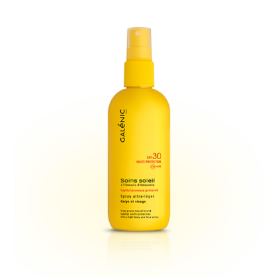 Galenic Soins Soleil Spray Ultra Lèger Corps-Visage Haute Protection SPF30 125ml
