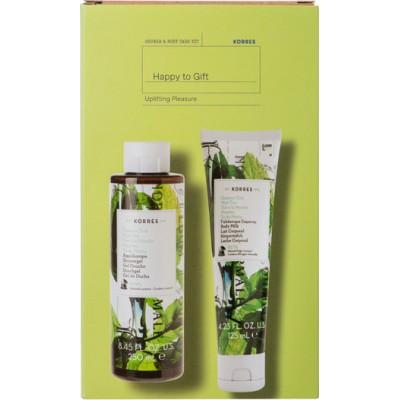 Korres Happy To Gift Uplifting Pleasure Shower Gel 250ml & Body Milk 125ml