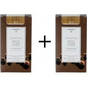 Korres Argan Oil Advanced Colorant 8.0 Ξανθό Ανοιχτό 2x50ml