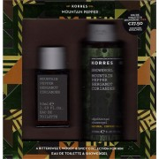 Korres Mountain Pepper, Bergamot, Coriander Eau De Toilette 50ml & Shower Gel 250ml