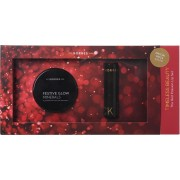 Korres The Red Passion Lip Set Illuminating Setting Powder 9gr & Morello Creamy Lipstick No 54 3.5gr