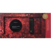 Korres The Red Passion Lip Set Illuminating Setting Powder 9gr & Morello Creamy Lipstick No 54 3.5gr