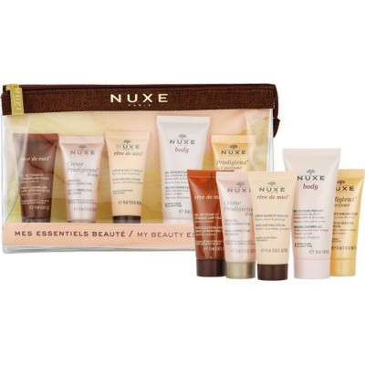 Nuxe Promo Reve De Miel Face Cleansing 15ml & Hand Cream 15ml & Prodigieuse Boost Gel Cream 15ml & Shower Gel 30ml & Body Lotion 15ml